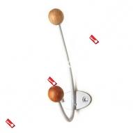 Крючок-вешалка с дерев шариком КВД-2 (Белый)