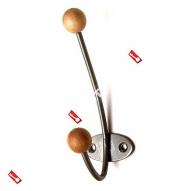 Крючок-вешалка с дерев шариком ТРИБАТРОН КВД-2