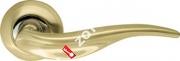 Ручка дверная раздельная Armadillo Lora LD39-1SG/CP-1 (Матовое золото/хром)
