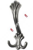 Крючок мебельный 3-х рожковый «Z» (Застаренное серебро)