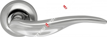 Ручка дверная раздельная Armadillo Lora LD39-1SN/CP-3