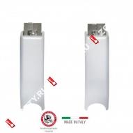 Верхняя и нижняя защелки DL PD900FR/L для противопожарных и наружных дверей (Серебро)