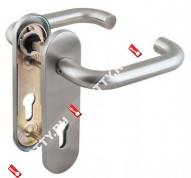 Ручка дверная Fuaro DH-0433 SS с пружиной, квадрат 9x140 мм (Нерж. сталь)