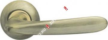 Ручка дверная раздельная Armadillo Pava LD42-1AB/GP-7 (Бронза/золото)