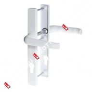 Гарнитур для профильных дверей на накладке PH92/30 PZ 92 (Белый)