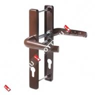 Гарнитур для профильных дверей на накладке PH85/30 PZ 85 (Коричневый)