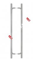 Комплект дверных ручек-скоб DL PHS 09 32-1000-800 (Нерж. сталь)