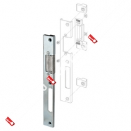 Регулируемая ответная планка для профильных дверей FUARO SP-001-U (190x22 мм)