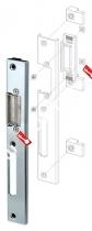 Регулируемая ответная планка для профильных дверей FUARO SP-003-R (230x30 мм) (двустворчатых) (KBE)