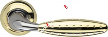 Ручка дверная раздельная Armadillo Dorado LD32-1GP/CP-2 (Золото/хром)
