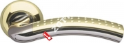 Ручка дверная раздельная Armadillo Libra LD26-1GP/CP-2