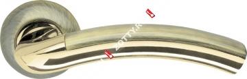 Ручка дверная раздельная Armadillo Libra LD27-1AB/GP-7 (Бронза/золото)