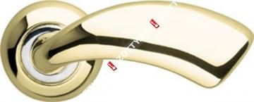 Ручка дверная раздельная Armadillo Leo LD56-1AB/GP-7 (Золото/хром)
