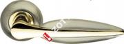 Ручка дверная раздельная Armadillo Lacerta LD58-1AB/GP-7 (Бронза/золото)