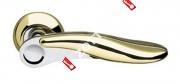 Ручка дверная раздельная Armadillo Ursa LD48-1GP/CP-2 (Золото/хром)