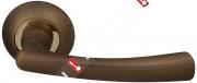 Ручка дверная раздельная Fuaro GAMMA RM AB/GP-7 (Бронза/латунь)