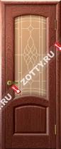 Межкомнатные двери Ульяновские двери ЛАУРА (Стекло Красное Дерево)