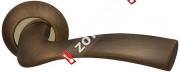 Ручка дверная раздельная Fuaro BELL RM AB/GP-7 (Бронза/латунь)