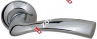 Ручка дверная раздельная Fuaro BELL RM CP-8