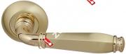 Ручка дверная раздельная Fuaro ENIGMA RM SG/GP-4 (Матовый латунь/латунь)