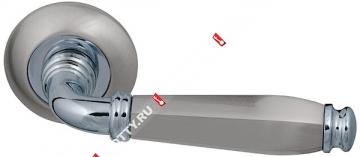 Ручка дверная раздельная Fuaro ENIGMA RM SN/CP-3