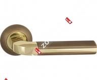 Ручка дверная раздельная Fuaro LARGO RM AB/GP-7 (Бронза/латунь)