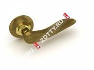 Ручка дверная раздельная Fuaro MELODY RM AB/GP-7