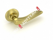 Ручка дверная раздельная Fuaro MELODY RM SG/GP-4