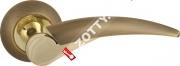 Ручка дверная раздельная Fuaro NOTA RM AB/GP-7 (Бронза/латунь)
