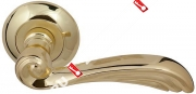 Ручка дверная раздельная Fuaro OPERA RM GP/SG-5 (Матовый латунь/латунь)
