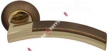 Ручка дверная раздельная Fuaro ACCORD RM AB/GP-7 (Бронза/латунь)