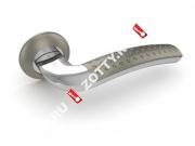 Ручка дверная раздельная Fuaro INTRO RM SN/CP-3