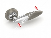 Ручка дверная раздельная Fuaro SOLO RM SN/CP-3