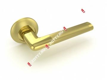 Ручка дверная раздельная Fuaro TEMPO RM SG/GP-4