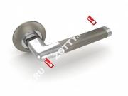 Ручка дверная раздельная Fuaro TEMPO RM SN/CP-3