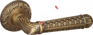 Ручка дверная раздельная Fuaro LORD SM AB-7 (Матовая бронза)