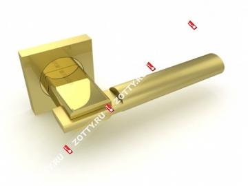 Ручка дверная раздельная Fuaro JAZZ KM SG/GP-4 (Матовый латунь/латунь)
