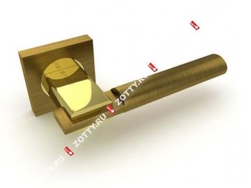 Ручка дверная раздельная Fuaro JAZZ KM AB/GP-7