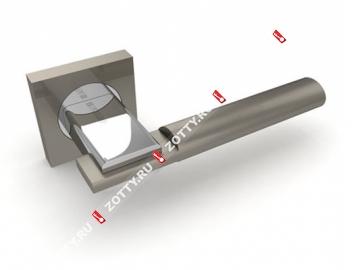 Ручка дверная раздельная Fuaro JAZZ KM SN/CP-3