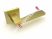 Ручка дверная раздельная Fuaro ROCK KM SG/GP-4 (Матовый латунь/латунь)