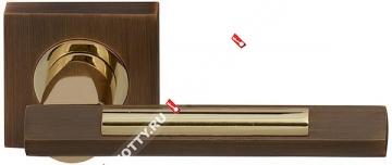 Ручка дверная раздельная Fuaro TANGO KM AB/GP-7 (Бронза/латунь)