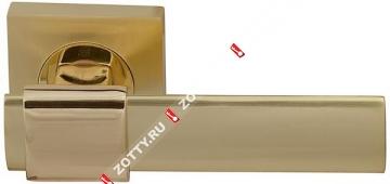 Ручка дверная раздельная Fuaro TWIST KM SG/GP-4 (Матовый латунь/латунь)