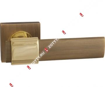 Ручка дверная раздельная Fuaro TWIST KM AB/GP-7
