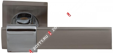 Ручка дверная раздельная Fuaro TWIST KM SN/CP-3
