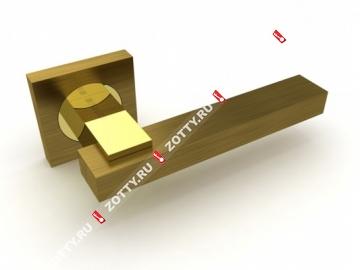 Ручка дверная раздельная Fuaro BLUES KM AB/GP-7 (Бронза/латунь)