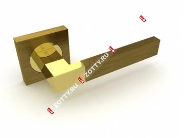 Ручка дверная раздельная Fuaro ETHNO KM AB/GP-7 (Бронза/латунь)