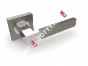 Ручка дверная раздельная Fuaro ETHNO KM SN/CP-3
