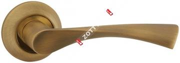 Ручка дверная раздельная Fuaro CLASSIC AR AB/GP-7 квадрат 8x130 мм (Бронза/золото)