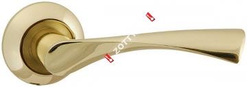 Ручка дверная раздельная Fuaro CLASSIC AR GP/SG-5 квадрат 8x130 мм
