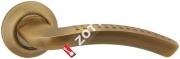 Ручка дверная раздельная Fuaro LOUNGE AR AB/GP-7 квадрат 8x130 мм (Бронза/золото)
